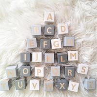 26Pcs Wooden English Alphabet Blocks Cubes Letters Educational Game Toys Kids Reading Learning Letters Cubes