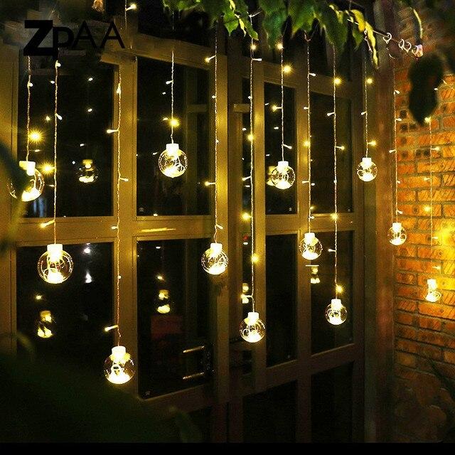 4625985bcee0b Zpaa LED Navidad Lámparas de decoración bola de cristal transparente 3 M  138led luz carámbano Navidad