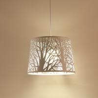 Chandelier modern minimalist wrought iron single head creative wood personality hollow carved restaurant chandelier