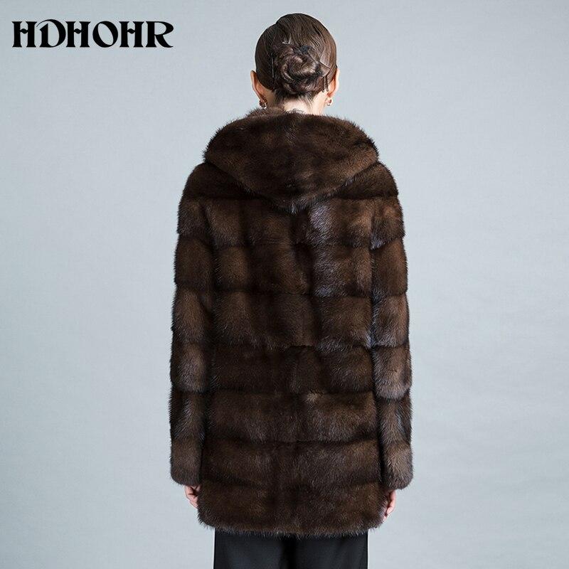 HDHOHR 2019 Baru Natural Mink Fur Coats Wanita Tebal Hangat Musim - Pakaian Wanita - Foto 3