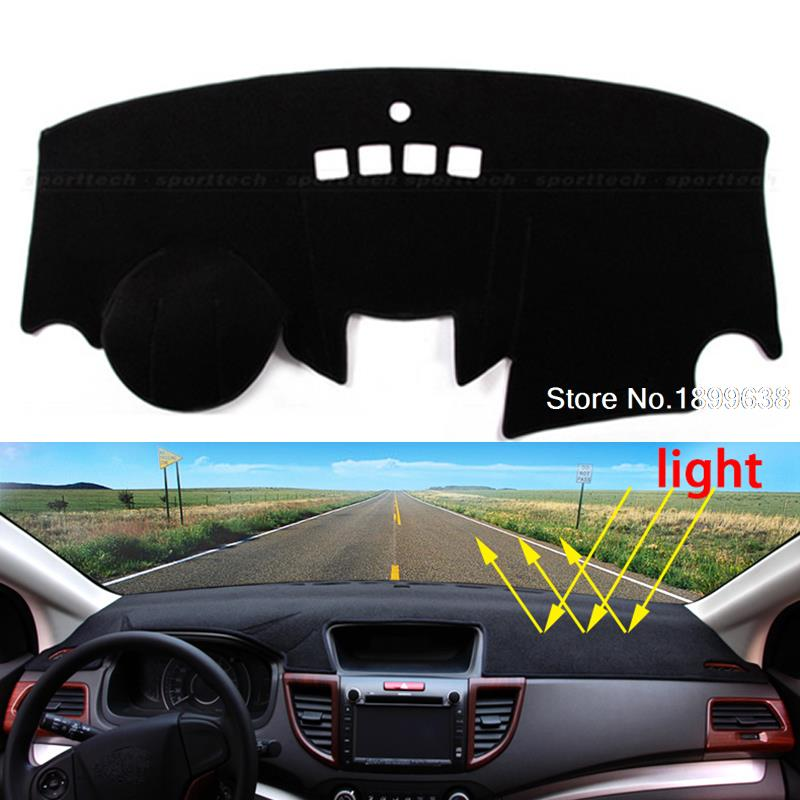 Car dashboard Avoid light pad Instrument platform desk cover Mats Carpets Auto accessories for Ford fiesta st 2009 - 2016 dashboard cover