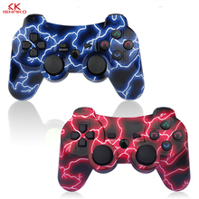 Best Selling 2 Pack Wireless 6-axis Double Shock Gaming Controller for Sony Playstation 3Charging Cord Blue and Red color pack