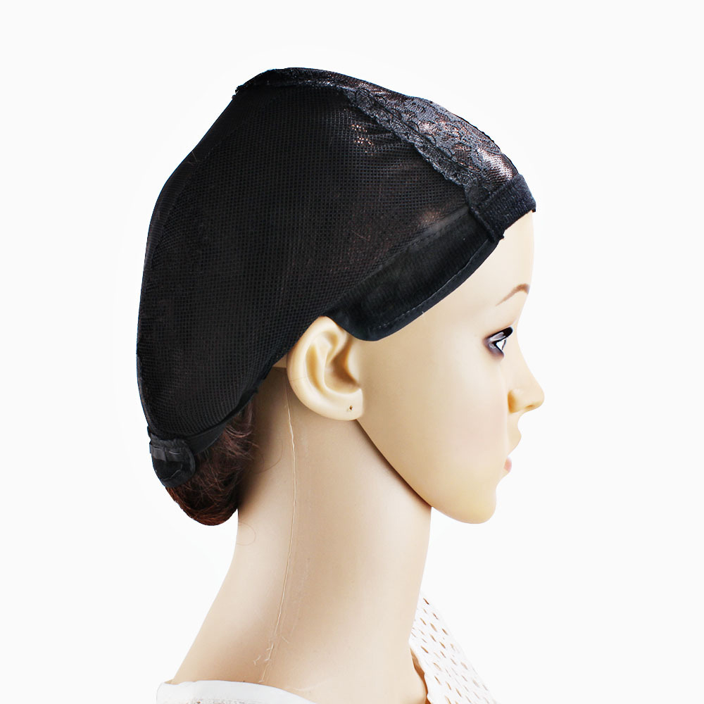 Black Color Hair Net For Women U-Shaped Wig Hat Bud Silk Screen Wig Adjustable Braided Hat Mesh Wig Cap Accessories Силиконы