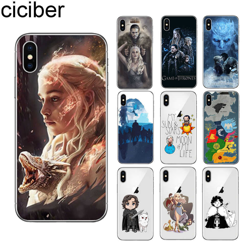 ciciber for iPhone 11 Pro Max Phone Case for iPhone X XR XS Max 7 8 6 6S Plus 5 5S SE Soft TPU Cover Shell Game of Thrones