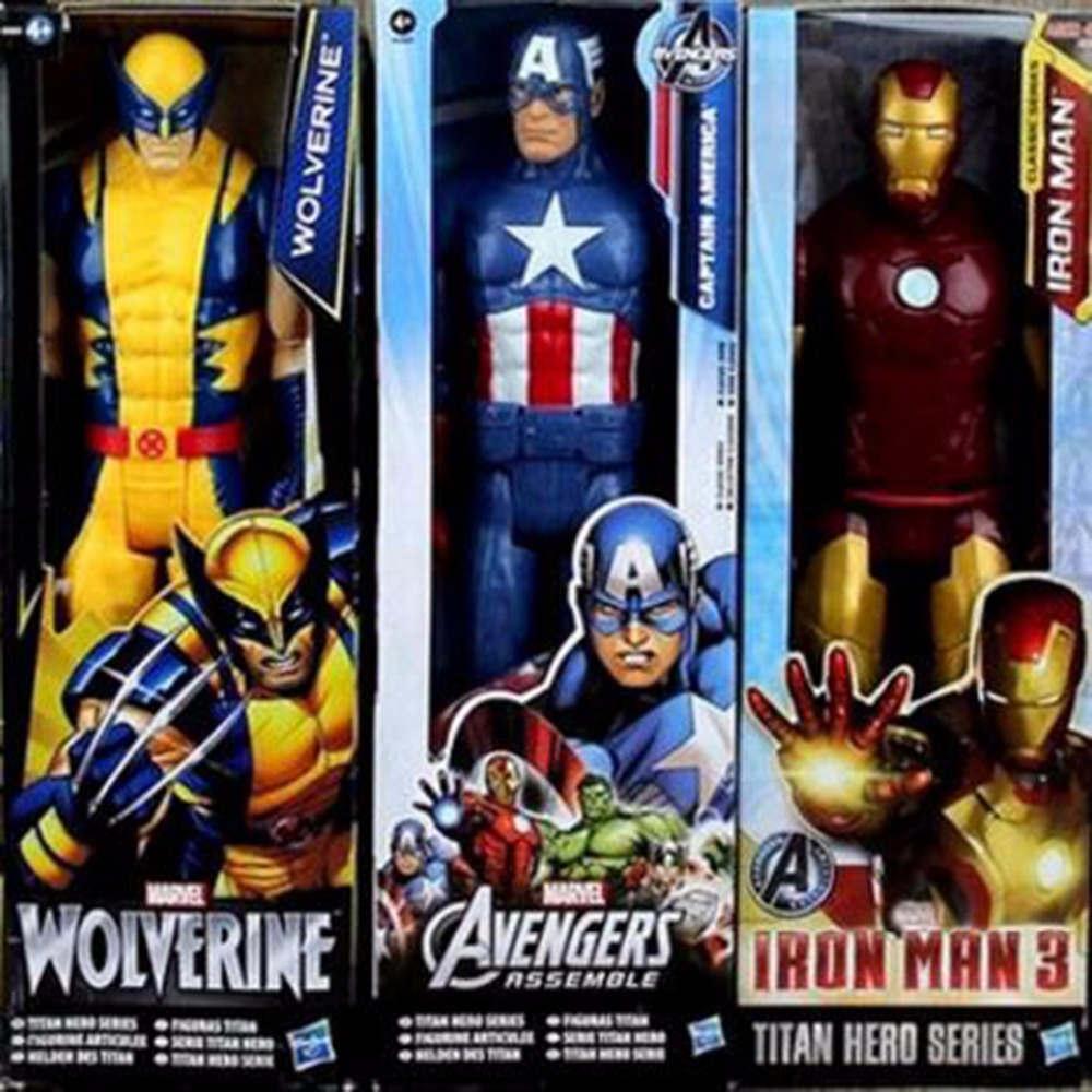 SuperHeros The Avengers Iron Man Captain American Spiderman hero PVC toy action figure model can moved doll Toy 1230cm legends avengers civil war captain america iron man black widow black panther scarlet witch ant man pvc action figure toy