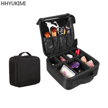 HHYUKIMI Brand Upgrade Adjustable Women Professional Makeup Bag Travel Waterproo