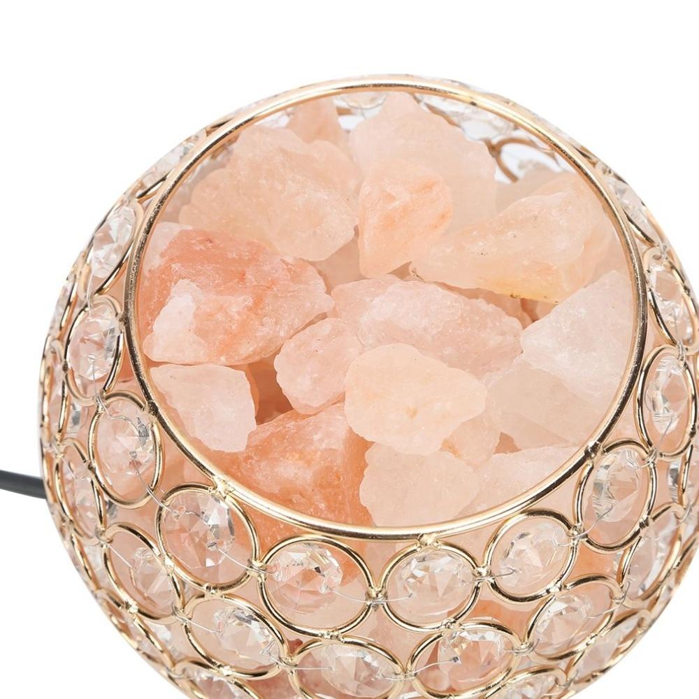 1pcs Round Ball Shape Night Light Healthy Life Himalayan Natural Crystal Salt Light Air Purifying Home Furniture Lamp Wholesale