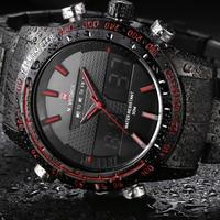 Men S Watches Luxury Brand Full Steel Quartz Clock Digital LCD Watch Army Military Sport Watch