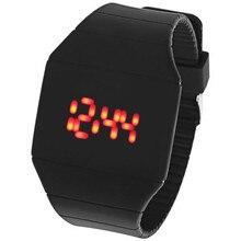 2018 красный светодиодный Сенсорный экран цифровой Дисплей Для женщин часы силиконовые Для мужчин спортивные часы Резиновые наручные часы Relogio Feminino часы