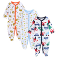 2016 Newborn 3pcs/Lot Baby Boy Clothes Baby Rompers Long Sleeve Cotton Sleepwear Pajamas Infant Jumpsuits Baby Product