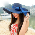 Hot 2016 Summer Fashion Bow Floppy Fold Hats For Women Sun Hats Foldable Beach Hat Holiday Wide Brimmed Ladies Hat Free Shipping