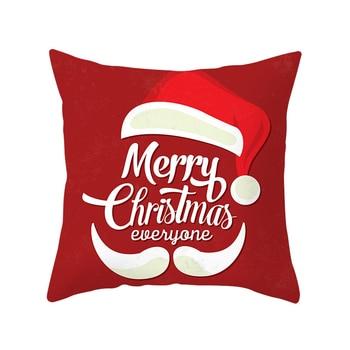 2019 Nueva Feliz Navidad Funda de cojín de Santa Claus Coche de Navidad Sofá casero Funda de almohada decorativa Funda de almohada de felpa Funda de almohada 1