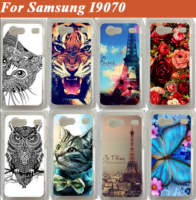 Colorful Painted Case For Samsung Galaxy S Advance i9070 9070 Case Phone Cover For Samsung I9070 Shell Back Case Free Shipping