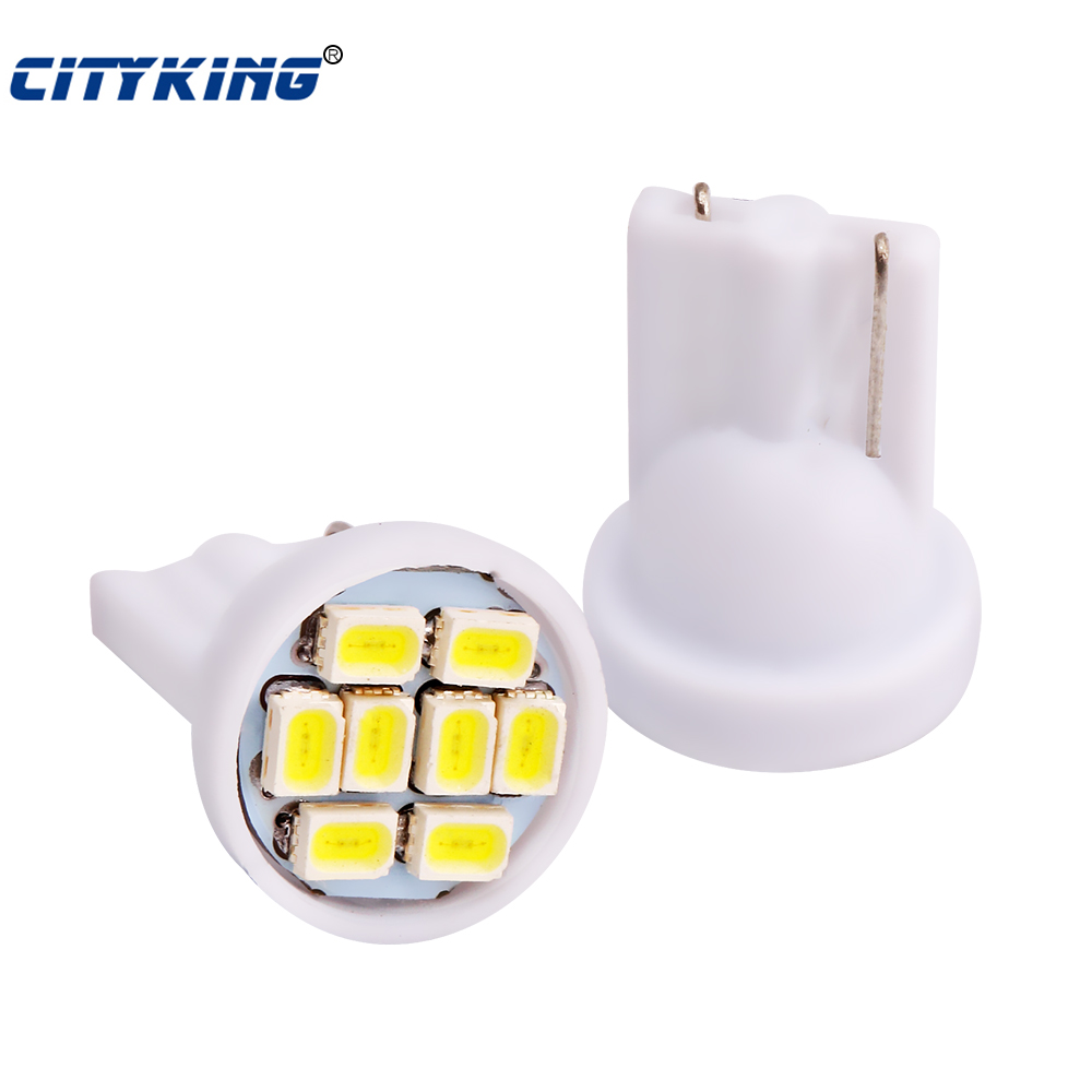 Wholesale 500pcs lot White light T10 8smd 1206 3020 led 194 168 192 W5WW5W 168 Wedge