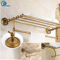 New Arrival Bathroom Accessories Classic Antique Bronze Finish Bathroom Towel Rack Bar Shelf