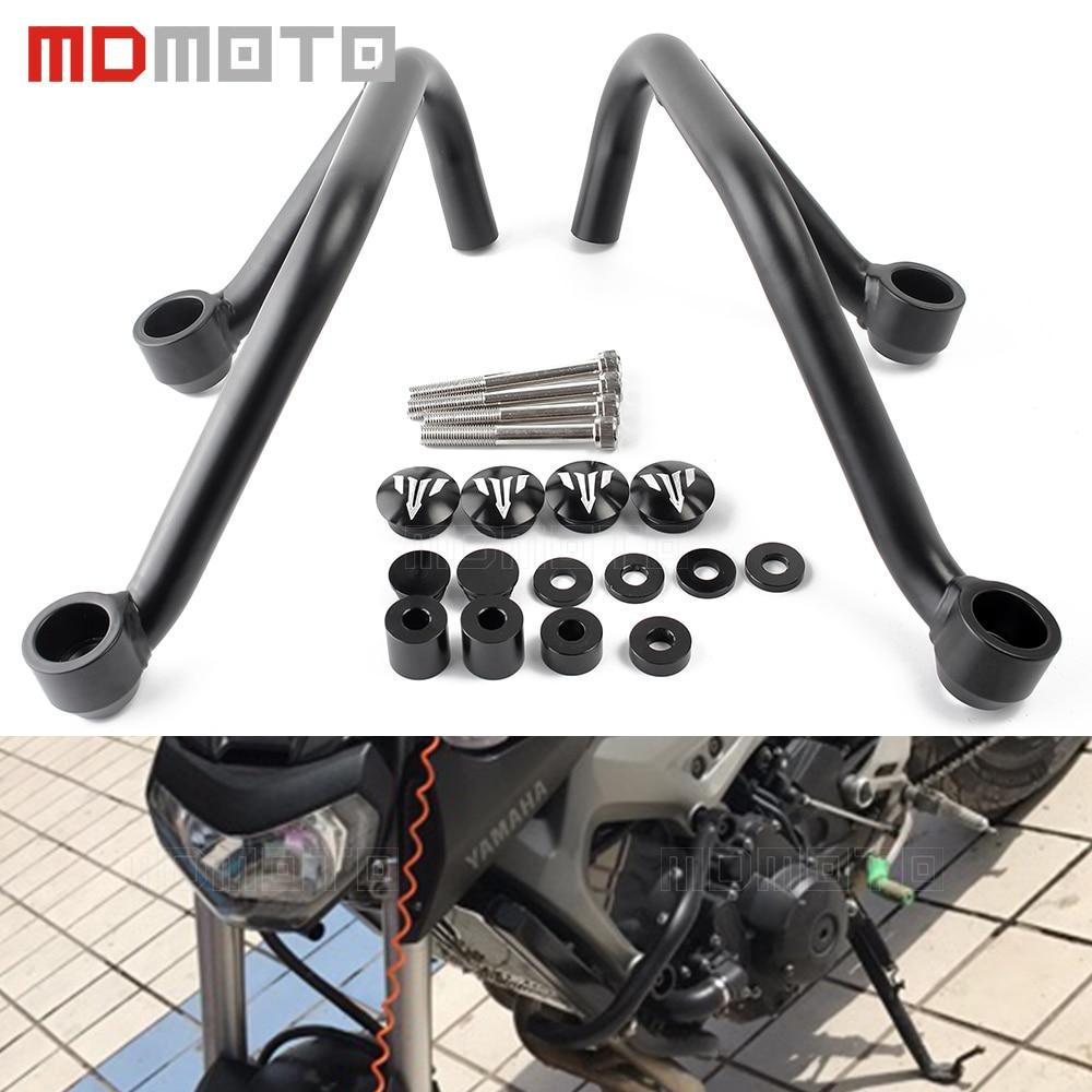 MDMOTO Motorcycle Frame Sliders Engine Bumper Guard Crash Bars Protector Steel For YAMAHA MT09 MT-09 FZ09 FZ-09 MT 09 2014-2016