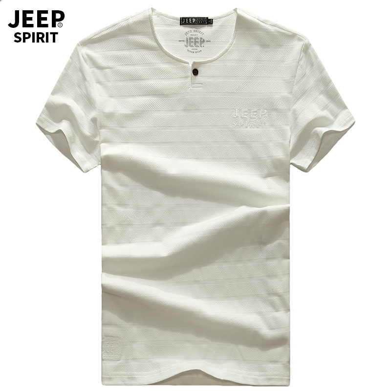 JEEP SPIRIT Brand Summer t shirt men Casual Loose 97.8%Cotton tee shirt homme O Neck Short Sleeve Breathable Mens Tops Tees