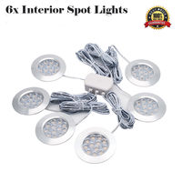 6PCS 3W LED Ceiling lights Car Dome Interior Lights Under Cabinet Lamps Camper Car RV LED Interior Light White 3000K