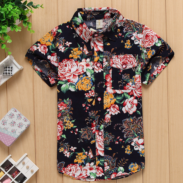 d37708ef 2015 new arrival free shipping cotton 100% floral shirt hawaiian shirt  aloha shirt for boy B1501