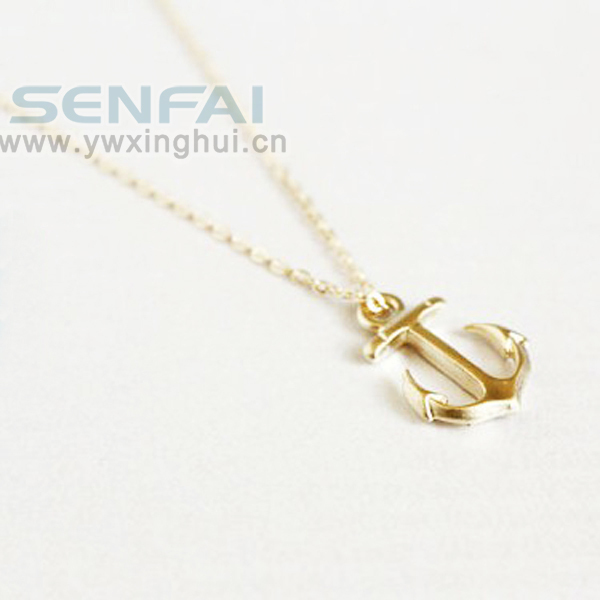 Dainty gold anchor pendant necklace nautical necklaces jewelry dainty gold anchor pendant necklace nautical necklaces jewelry fashion necklace for women 2014 gift for her in pendant necklaces from jewelry aloadofball Choice Image