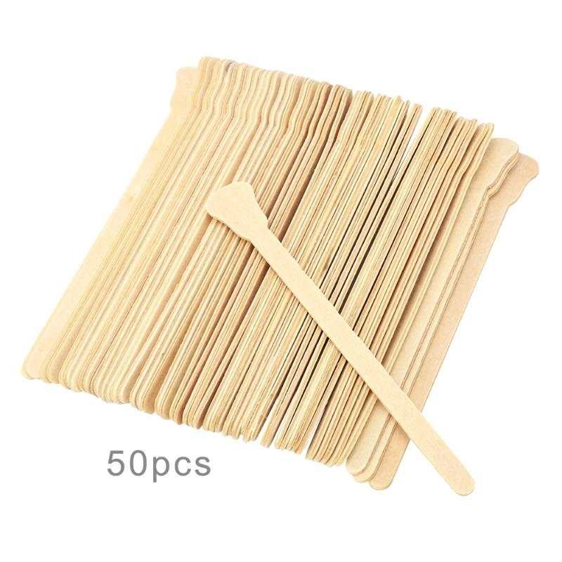 10/50PCS Wooden Body Hair Removal Waxing Wax Spatula Wood Tongue Depressor Disposable Bamboo Sticks Kit Skin Beauty Tool