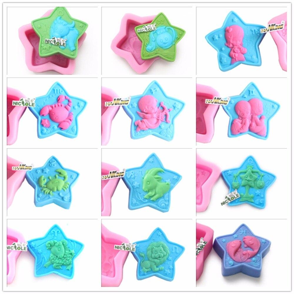 ღ ღNicole Jabones molde doce constelaciones moldes el patrón de ...
