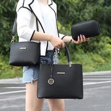 купить 2019 New Designer Women Handbag Leather Shoulder Bag Set Female Totes High Quality Bag 3 in 1 Brand Bolsa Feminina Composite Bag дешево