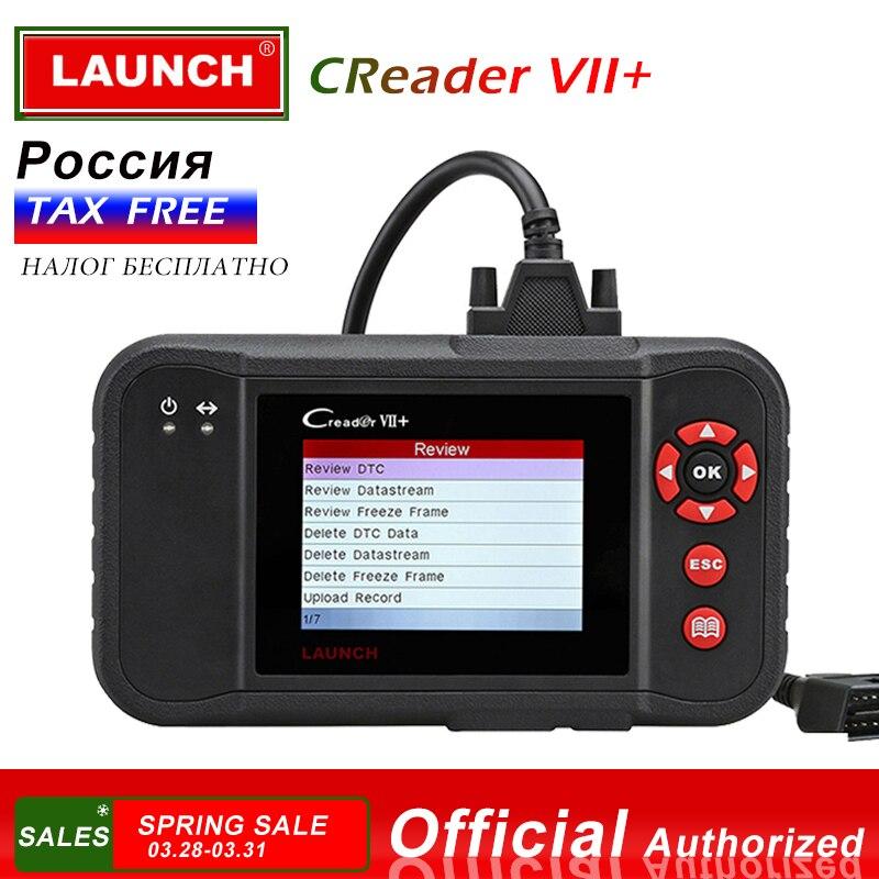 Lançamento Creader VII + Código Auto Leitor Lançamento Creader VII X431 Plus Sistema de Travagem Do Motor ABS SRS obd obd2 Auto digitalizador Creader 7 +