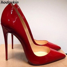 2019 So Nice Kate 12cm/10cm/8cm High Heels Black Red Patent