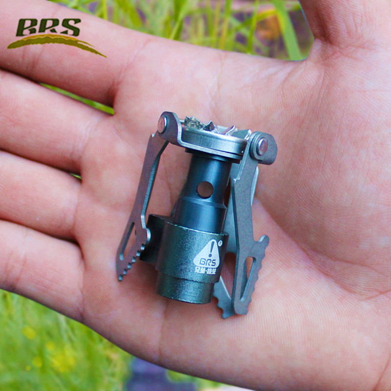 Portable BRS 3000T Titanium Metal Gas Stove 25g Light Quenching Furnace Cooker Burner untuk Camping Outdoor Outdoor Stoves