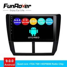 FUNROVER Quad core android 9.0 2 din car dvd player gps Per Subaru Forester 2008-2012 auto radio multimedia stereo di navigazione DSP