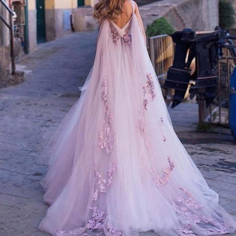 Arabisch Formale Abendkleid Spitze Applique Chic Lange Prom Kleider robe de soiree abiye Rosa Party Kleid Sleeveless Mit Zug