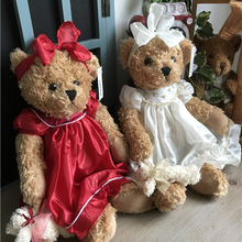 1PCS 36CM wear dress sweet teddy bear Stuffed Animals Plush Toys Teddy Bear Sleeping dolls birthday Christmas Gifts for Kids