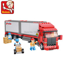 Educational Toys for children DIY Building Blocks Container truck self-locking bricks Compatible with Lego