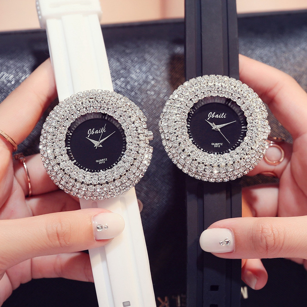 Brand Fashion Women Watches 2 Color Confidante Dress Wristwatch Bestie Jewelry Luxury Full Diamond Business Rejores Lady Hodinky