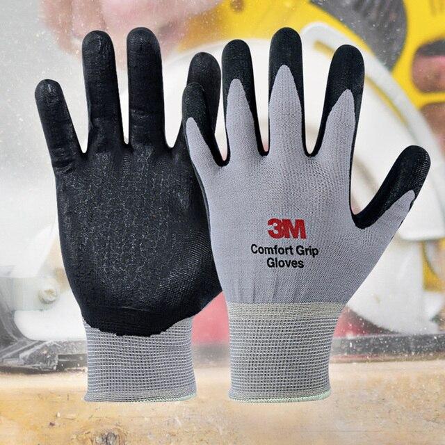 3m Work Gloves Comfort Grip Wear-resistant, Nitrile Rubber Gloves 1