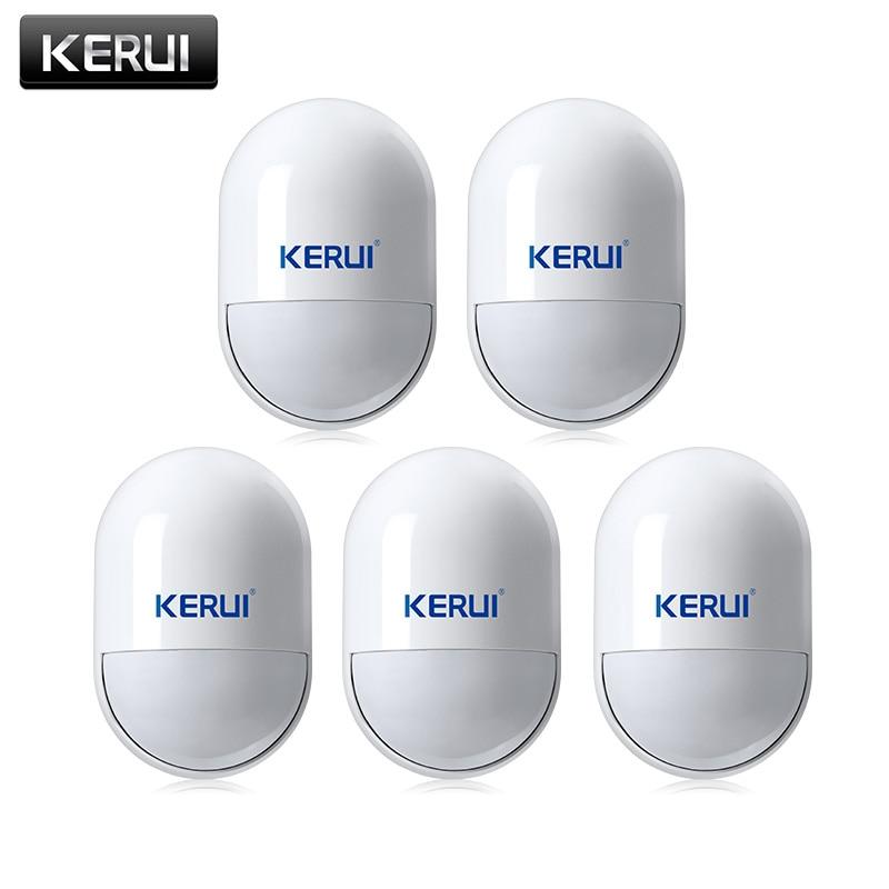 Kerui p829 kablosuz anti-pet bağışıklık pir g18 g19 w18 için motion motion dedektörü sensörü gsm pstn ev güvenlik alarm sistemi