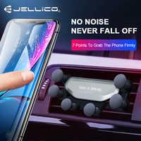Jellico uchwyt samochodowy do telefonu iPhone X Samsung w uchwyt samochodowy na odpowietrznik grawitacji uchwyty samochodowe dla Xiaomi przenośny modem Huawei stojak na telefon