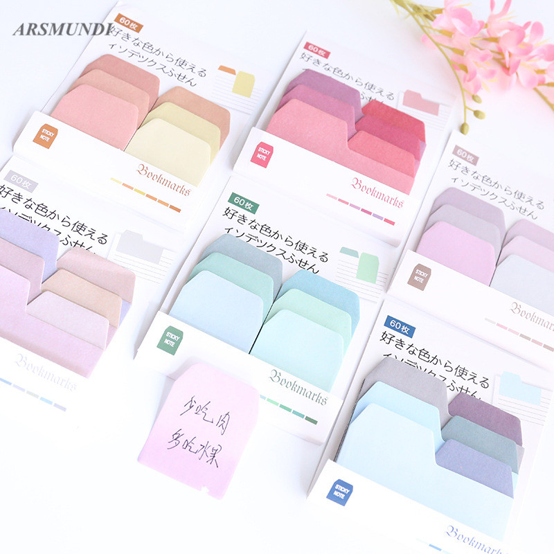 Multi-Color Kawaii Self-Adhesive Sticky Notes Post It Cute Memo Pad School Office Papeleria Planner Stickers School Supplies 1000 label self adhesive sticky a4 sheets address labels inkjet laser copier printer ebay amazon sticky address post pack paper