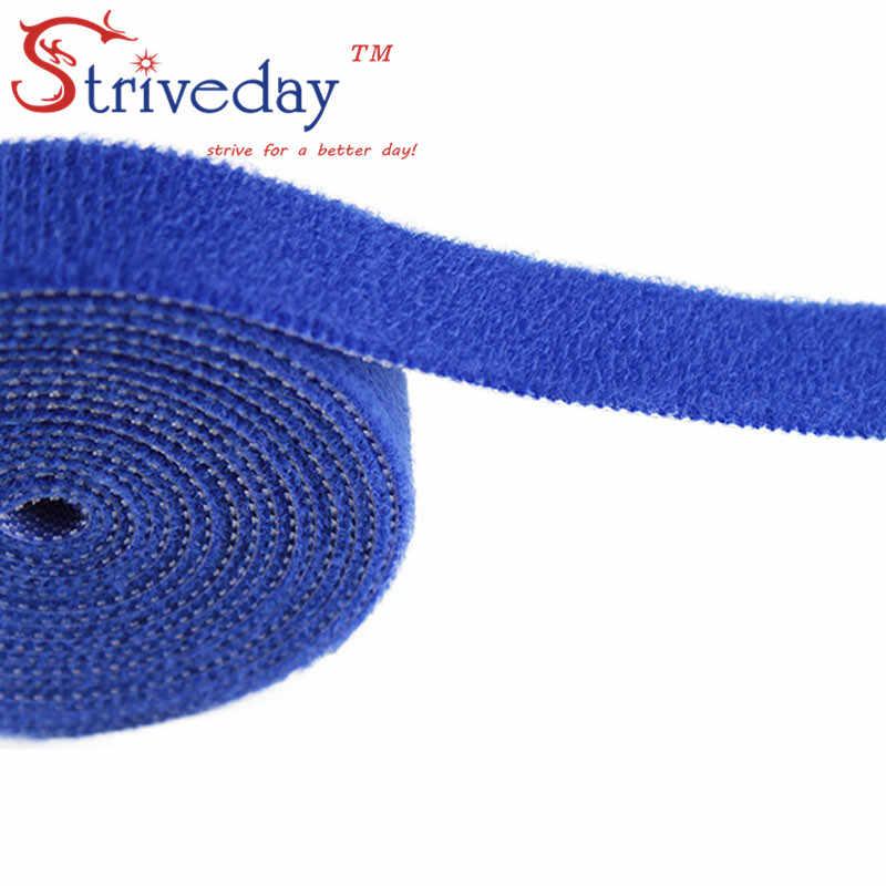 5 m/rolka magiczna taśma opaski kablowe nylonowe szerokość 2cm opaski drutowe słuchawki Winder velcroe tie 6 kolorów do wyboru