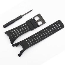 263855f53a7 Nova Grade 35mm Silicone Strap Pulseira para SUUNTO CORE TUDO PRETO  Substituição Faixa de Relógio Pulseira