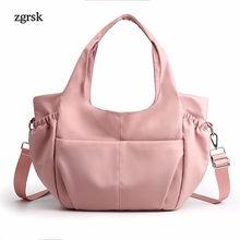 Women Messenger Shoulder Bags Designer Luxury Satchel Nylon Zipper Crossbody Bags Handbags Pink Fashion Bag Bolsas Feminina