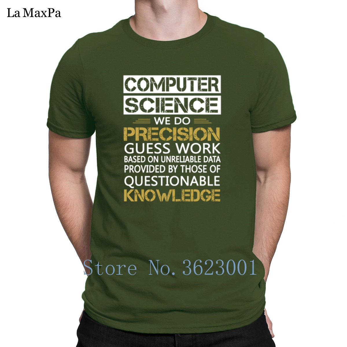 Printing Round Collar T Shirt Computer Science Tshirt Clever Summer