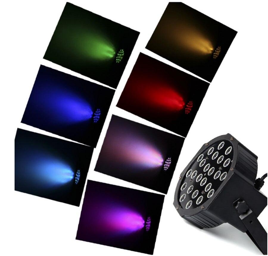 Stage Lights RGB PAR LED DMX Stage Lighting Effect DMX512 Master-Slave Led Flat for DJ Disco Party KTV For EU Plug AC 110 - 220V mini rgb led party disco club dj light crystal magic ball effect stage lighting