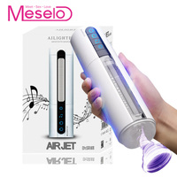 Meselo Male Masturbator Intelligent Heated Vacuum Suck Air Jet Vocalization Hand free Pussy Masturbator For Man Sex Toys For Men