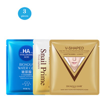 BIOAOUA 3 Pieces Hyaluronic Acid Snail Face Sheet Mask Moisturizing Facial Mask Set Skin Care Cosmetic bioaqua facial mask cartoon face mask deep nourish brighten moisturizing facial mask hyaluronic acid beauty skin care sheet mask