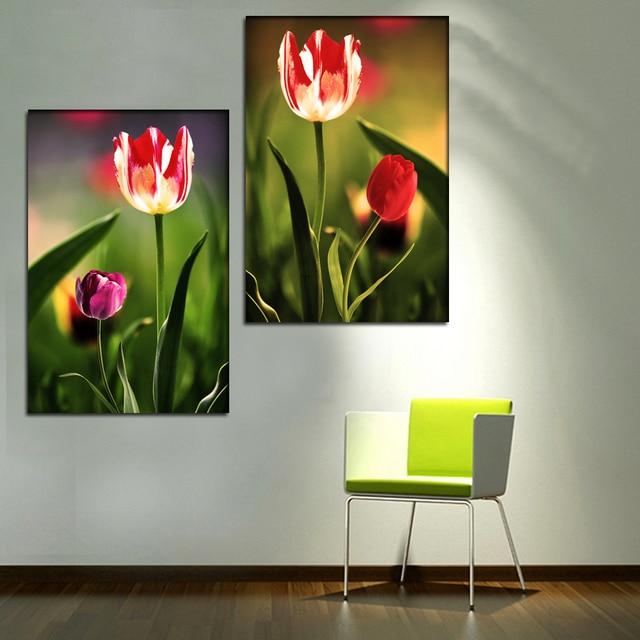 arte de la pared de lona rosa pinturas decorativas pintura al leo cuadros para dormitorio moderno