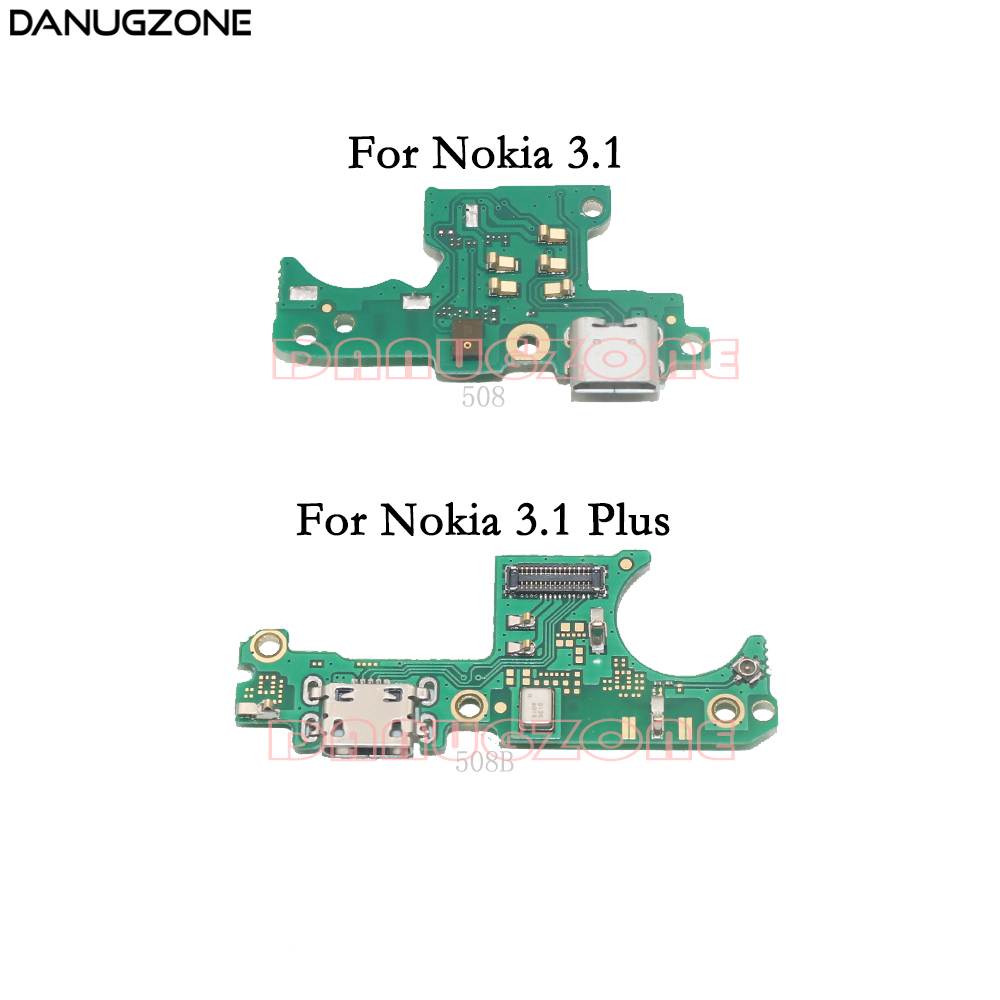 For Nokia 3 2018 USB Charging Port Dock Plug Socket Jack Connector Charge Board Flex Cable For Nokia 3.1 Plus 3.1+