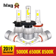 HLXG 2PCS 5000K H8 H11 Led H4 Hi Lo H7 H1 H9 Lamp 6500K Car Headlight Bulbs Car Lamp Auto Leds Light Led Automotive 12V 8500K(China)