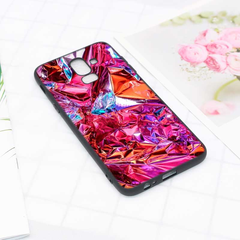 Black Soft Silicone Phone Case Army camo Camouflage for Samsung Galaxy j6 j4 j8 j7 j5 j3 Plus 2018 + Cases